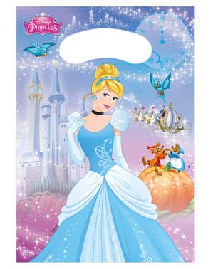 6 uitdeelzakjes Cinderella Fairytale