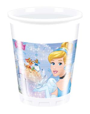 Conjunto de 8 copos A Cinderela Fairytale