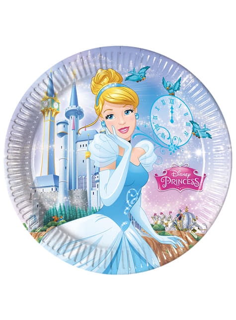 Set de 8 platos La Cenicienta Fairytale 23 cm