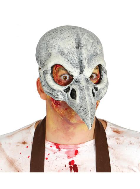 Máscara de calavera de cuervo para adulto
