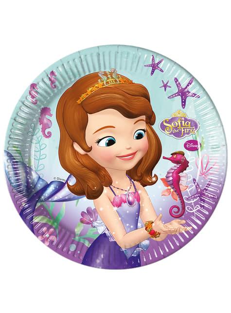 Set de 8 platos La princesa Sofía 23 cm