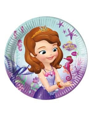 8 assiettes Princesse Sofia 23 cm