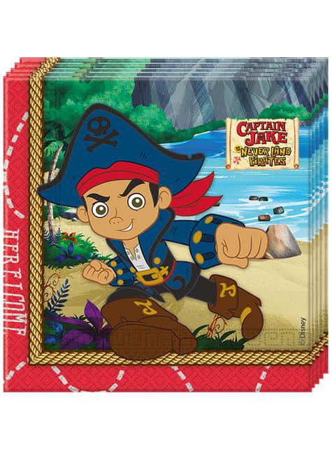 20 servilletas Jake y los Piratas del País de Nunca Jamás (33x33 cm)