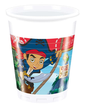 Set of 8 Jake and the Never Land Pirates Cups