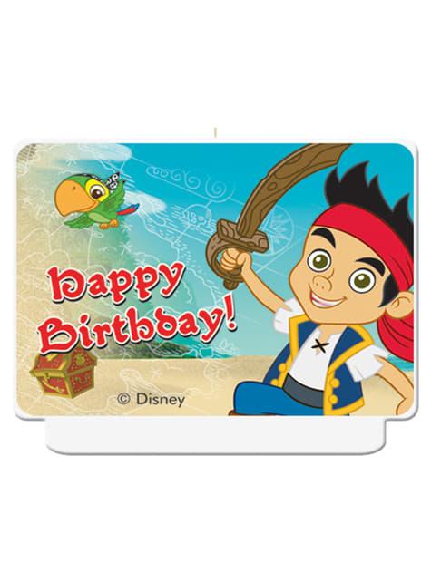 Vela Happy Birthday Jake y los Piratas del País de Nunca Jamás