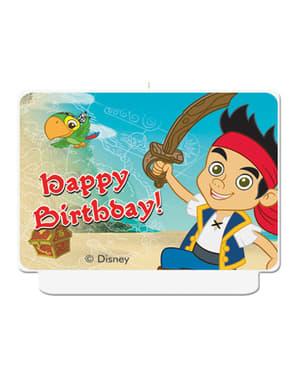 Bougie Happy Birthday Jake et les Pirates du Pays imaginaire