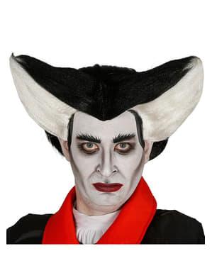 Peluca de vampiro maligno para adulto