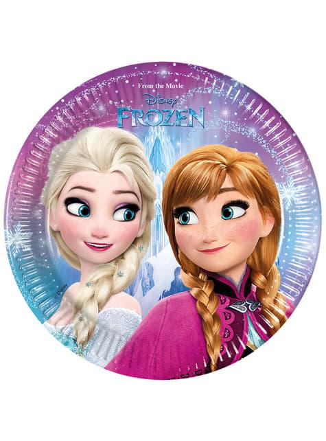 8 platos Frozen Northern Lights (20 cm)