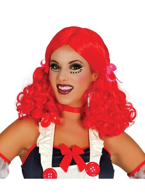 Perruque poupée rousse femme