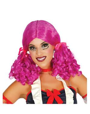 Parrucca bambola con coda per donna