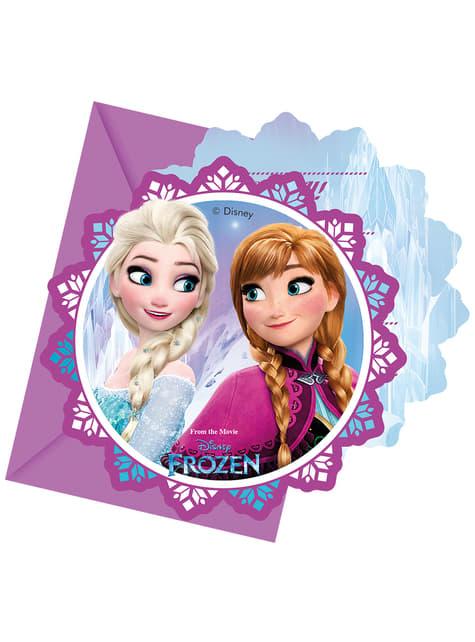 6 invitations La reine des neiges Northern Lights