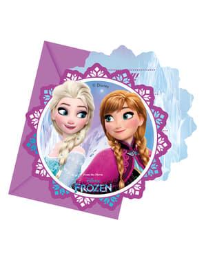 6 kpl pakkaus Frozen Revontulet -kutsuja