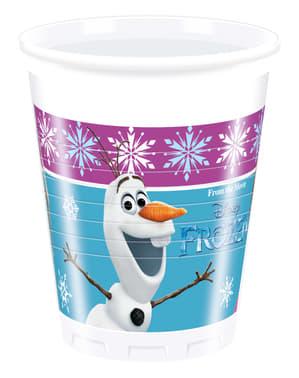 Sada 8 plastových pohárov Ľadové kráľovstvo Polárna žiara