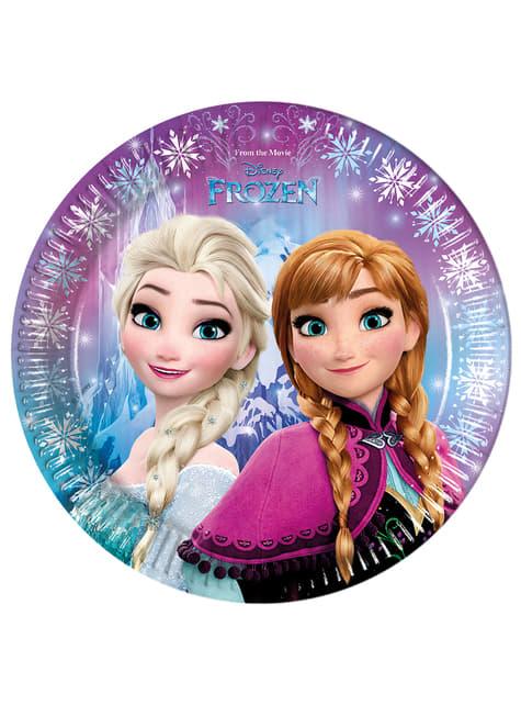 8 assiettes La reine des neiges Northern Lights 23 cm