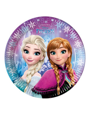 8 Frozen Northern Lights Plates (23 cm)