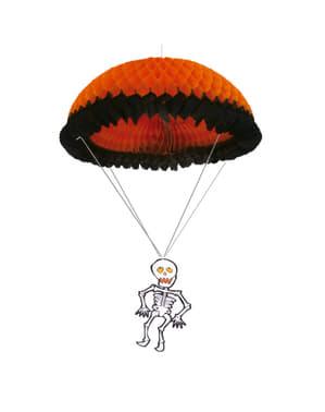 Laterne mit Fallschirmspringendem Skelett