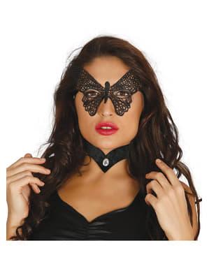 Máscara de borboleta para mulher