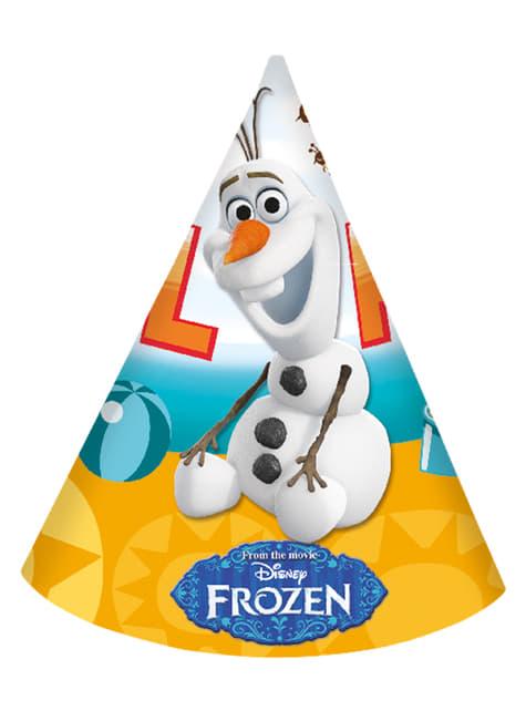 Conjunto de 6 chapéus de papel O Verão de Olaf