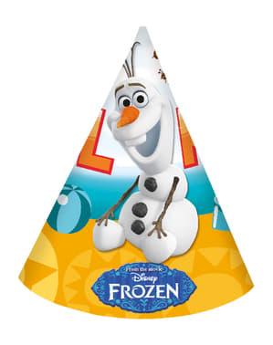 6 chapéus de papel O Verão de Olaf