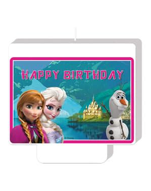 Bougie Happy Birthday La reine des neiges Alpine