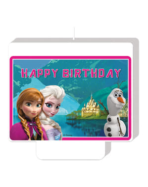 Frozen Alpine Happy Birthday Candle
