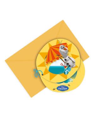 6 invitations Olaf Summer