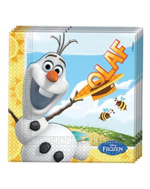 Conjunto de 20 guardanapos O Verão de Olaf