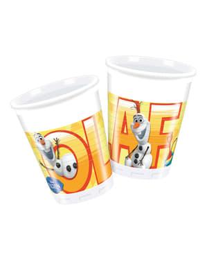 Conjunto de 8 copos O Verão de Olaf