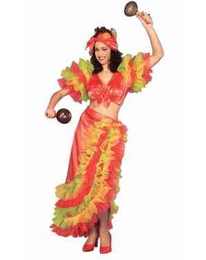 Disfraz de rumbera cubana