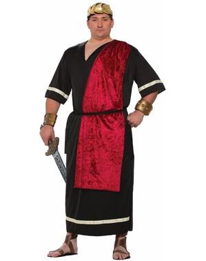 Αρχαία Ρωμαϊκή κοστούμι στο Μαύρο