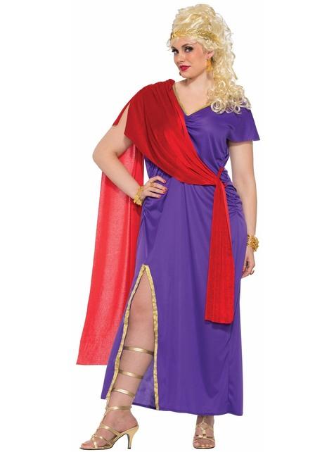 Disfraz de romana morado