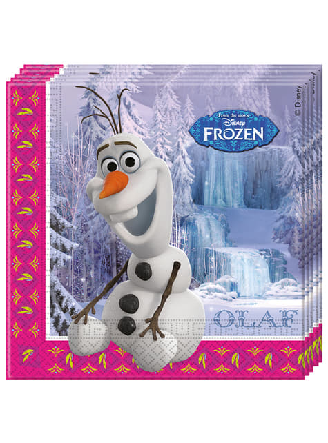 Set de 20 servilletas Frozen Alpine Olaf
