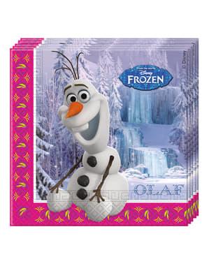 20 Serviettes en papier La reine des neiges Alpine