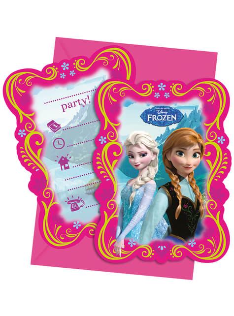 Set 6 uitnodigingen Frozen Alpine