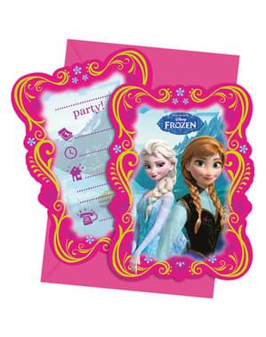 Frost bjerglandskab 6 invitationer
