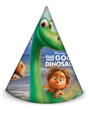 Sett med 6 Den Gode Dinosaur Party Hatter
