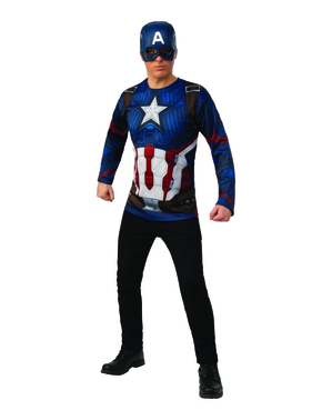 Kit disfarce de Capitão América Vingadores: Endgame