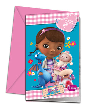 Set of 6 Doc McStuffins Invitations