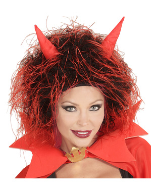 Adults Lucifer Wig with Horns