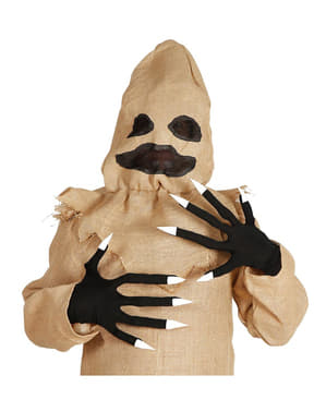 Luvas com unhas de Halloween para adulto