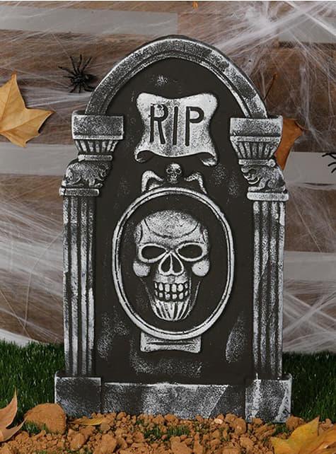 Lápida esqueleto RIP
