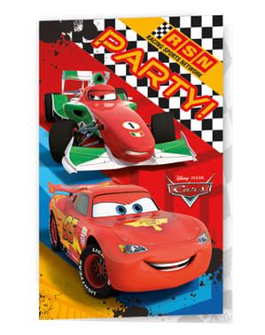 6 invitaciones Cars Formula
