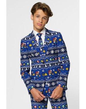 ティーンエイジャーのためのクリスマススーパーマリオブラザーズのスーツ - Opposuits