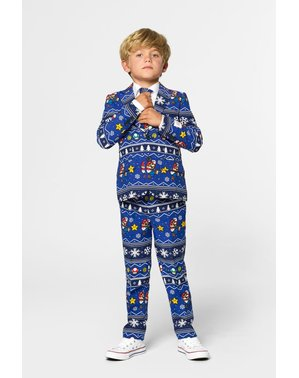 Christmas Super Mario Bros Suit for kids - Opposuits