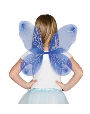 Alas azules infantiles