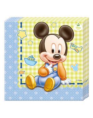 20 servilletas Mickey Mouse (33x33cm) - Baby Mickey