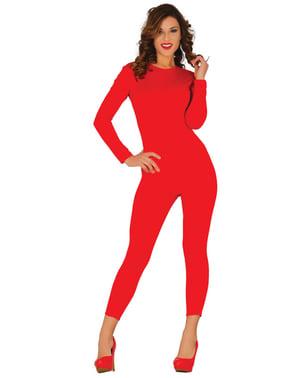Czerwony kostium damski