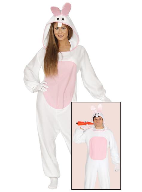 Disfraz de conejito blanco para adulto