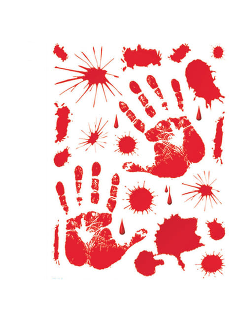Set adhesivos de sangre Halloween