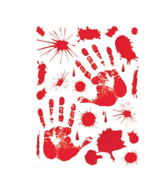 Set med blodiga klistermärken